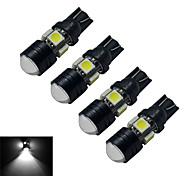 3W T10 Luces Decorativas 5 SMD 5050 250-280lm lm Blanco Fresco DC 12 V 4 piezas