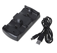 2-in-1 Mini USB Dual Charging Dock for PS3/PS3 move Controller