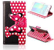 Bowknot Pattern PU Leather Case with Stand for Samsung Galaxy A3