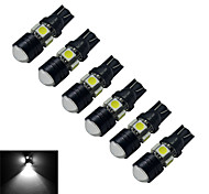 JIAWEN® 6pcs T10 3W 5X5050SMD 250-280LM 6000-6500K Cool White  LED Car Light (DC 12V)