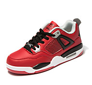 Men's Shoes Outdoor / Casual / Athletic Leather Athletic Shoes / Fashion Sneakers Black / Red / White