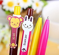 Cute Rainbow Blue Ink Ballpoint Pen(Random Color)