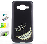 Tooth Pattern PC Painted  Protective Shell Dust Plug and Bracket Assembly for Samsung GALAXY CORE Prime G360