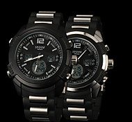 New fashion men's business double movement movement waterproof anti fall large dial watches LCD BWL589