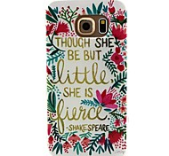 For Samsung Galaxy Case Pattern Case Back Cover Case Word / Phrase TPU Samsung S6 edge