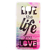 The Good Life Pattern PC Hard Case for Samsung Galaxy A3