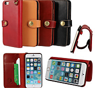iCoverCase®Retro Genuine Cowhide Leather Flip Cover Wallet Card Slot Case with Stand for iPhone 6 Plus(Assorted Colors)
