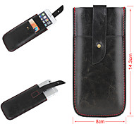 Solid Color Simply Style Genuine Leather Full Body Mobile Phone Bags with Buckle for iPhone 6
