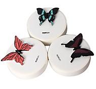 Butterfly Pattern Multi Color Plastic Cantact Lens Case (Random Color)