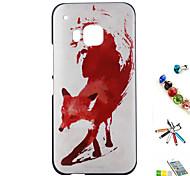 rosso modello volpe shell rilievi dipinti materiale pc e combinazione staffa spina touch pen polvere per htc 一 (m9)