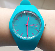 Women's Dress Watch Fashion Watch Wrist watch Quartz Silicone Band Black White Blue Red Brown Brand