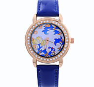 Female Models Candy Colored Diamond Fashion Simple Circular Pattern China Movement Watch Belt(Assorted Colors)