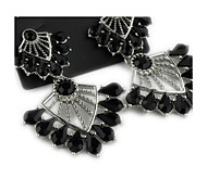 Black hollow earrings*1Pair
