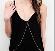 Женский Украшения для тела Цепь Тела / Belly Chain Сплав Мода Белый Зеленый Бижутерия Для вечеринок
