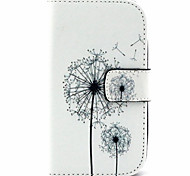 Dandelion  Pattern PU Leather Case with Magnetic Snap and Card Slot for Alcatel One Touch Pop C3