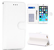 BIG D Genuine Leather with Card Bag Full Body Case for iPhone 6(Assorted Color)