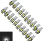 1.5W T10 Luces Decorativas 20 SMD 3528 85lm lm Blanco Fresco DC 12 V 20 piezas
