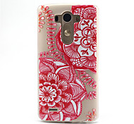 Red Mandala  Pattern Ultrathin TPU Soft Back Cover Case for LG G3