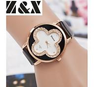 Women's Fashion Diamond Lovely Flower Quartz Analog Leather Belt Bracelet Watch(Assorted Colors)