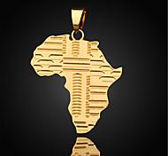 Homens Colares com Pendentes Pingentes Mapa Chapeado Dourado Jóias Para Diário Casual Esportes 1peça