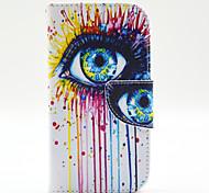 магические spider®colorful глаза открытое покрытие кожаный чехол бумажник PU стенд с экрана протектор для Samsung Galaxy 9500