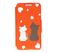 Full Body Card Holder / Flip Cat PU Leather Hard Case Cover For Sony Sony Xperia Z3 / Sony Xperia M4 Aqua / Sony Xperia M2 / Other