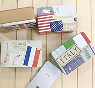 Korean Fashionable National Flag Style Stationery Organizer Box (Random Color)