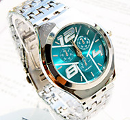 Men's Explosion Round Dial Steel Strap Fashion Business Quartz Watch  (Assorted Colors) Cool Watch Unique Watch