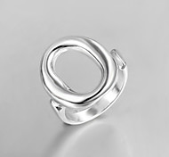 """2016 New Simple Creative """"O""""Sterling Silver Band Ring For Women"""