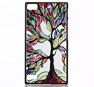 caso colorido patrón de árbol protector de plástico duro magia SPIDER® cubierta posterior con protector de pantalla para blackberry z3