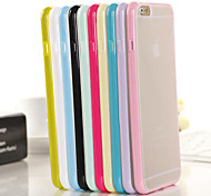 Candy Color Transparent Falling Proof TPU+PC Case for iPhone 6 Plus (Assorted Color)