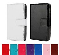 Solid Color PU Leather Full Body Case with Stand and Card Slot for LG Optimus L4 II (Assorted Color)