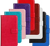 For Samsung Galaxy Case Flip Case Full Body Case Solid Color PU Leather Samsung Ace 3