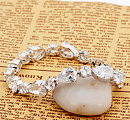 High Quality Fashion Women Platinum 10 KT White Water Body And Small Round Drill Zircon Bracelets