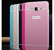 Special Design Solid Color Metal Back Cover and Bumper for Samsung Galaxy A7 (Assorted Colors)