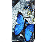 Full Body Wallet / Card Holder / with Stand Butterfly PU Leather Hard Case Cover For NokiaNokia Lumia 830 / Nokia Lumia 640 / Nokia Lumia