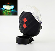 Jewel Shaped 7-Mode 5-LED Colorful Light Bike Laser Tail Lamp (Black+White)