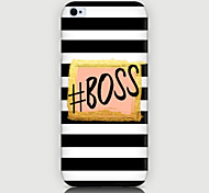 BOSS Pattern Phone Back Case Cover for iPhone5C