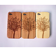 With Different Patterns Real Natural Bamboo Wood Wooden Hard Case Cover For Apple Iphone 4G (Assorted Color)