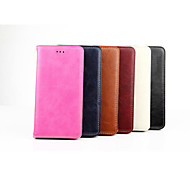 PU Leather Oil and Wax Stents Can Insert Card Design for iPhone 6 Plus (Assorted Colors)