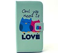 сова тебе нужна любовь шаблон PU кожаный полный корпусу с подставкой и держателем карты для WIKO Lenny