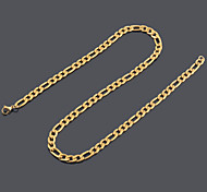 3MM Width Women's Men's Punk Small 18K Gold Plated Stainless Steel Chain Necklaces Pendant Chains Variety Length