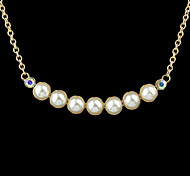 New Style Cheap Gold Plated Fashion Imitation Latest Design Pearl Necklace