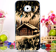 The Cabin Pattern Dazzling Blue Light TPU Soft Case for Samsung Galaxy S6