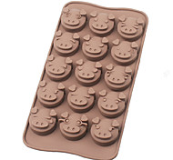 Cute Little Pig Face Silicone Chocolate Molds