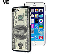 US Dollar Design Environmental Anti-slip Epoxy Sticky Glossy Mobile Epoxy Hard Case for iPhone 6