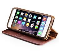 Acase kompatibel Tasche aus echtem Leder Ganzkörper-Schutz-Mappenkasten für iphone 6 Plus