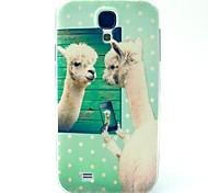 motif de l'agneau TPU couverture souple pour les Samsung Galaxy S i9500