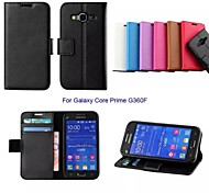 New Business Solid Leather Case with Stand for Samsung GALAXY Core Prime G360F
