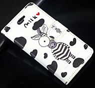 Cartoon Zebra PU Leather Full Body Wallet Protective Case with Stand and Card Slot For Huawei Ascend G6